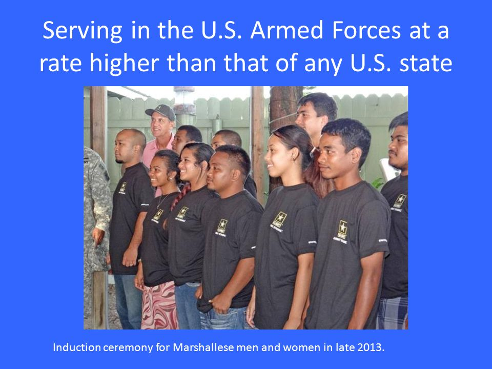 Serving in the U.S. Armed Forces at a rate higher than that of any U.S.