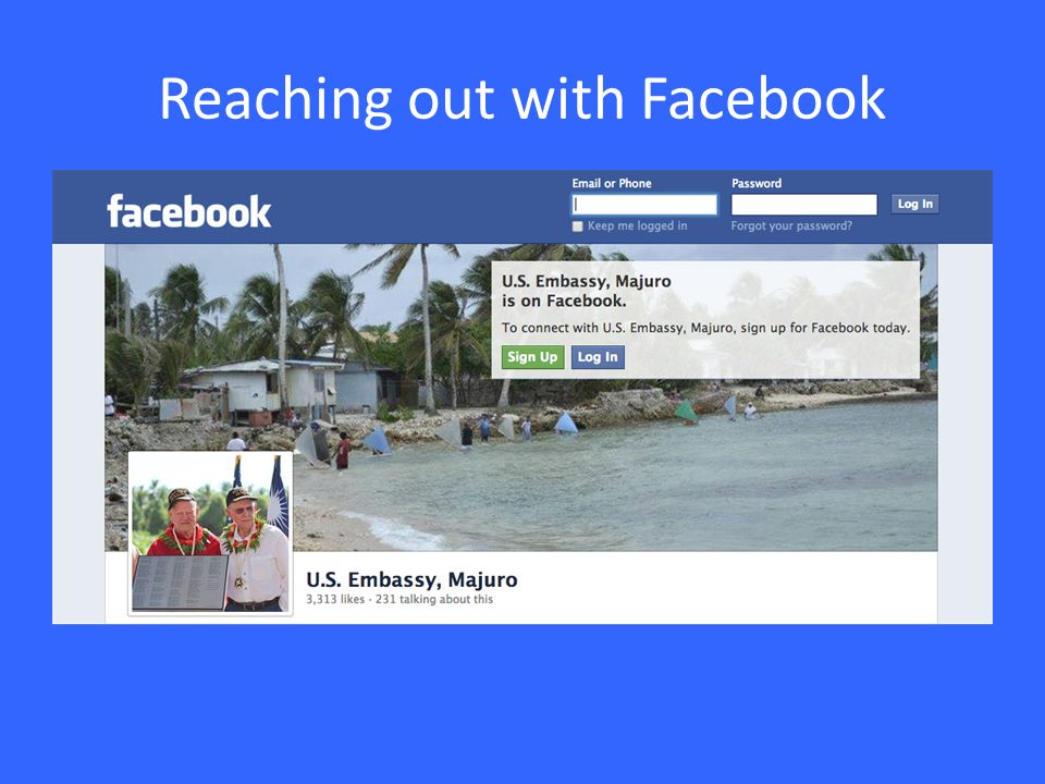 Reaching out with Facebook