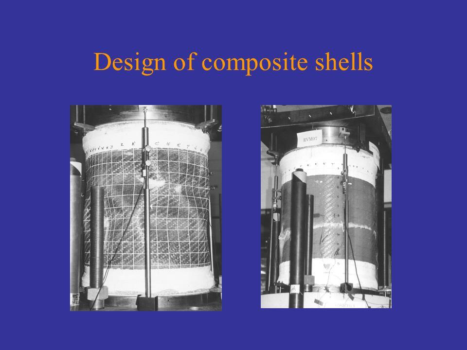 Design of composite shells
