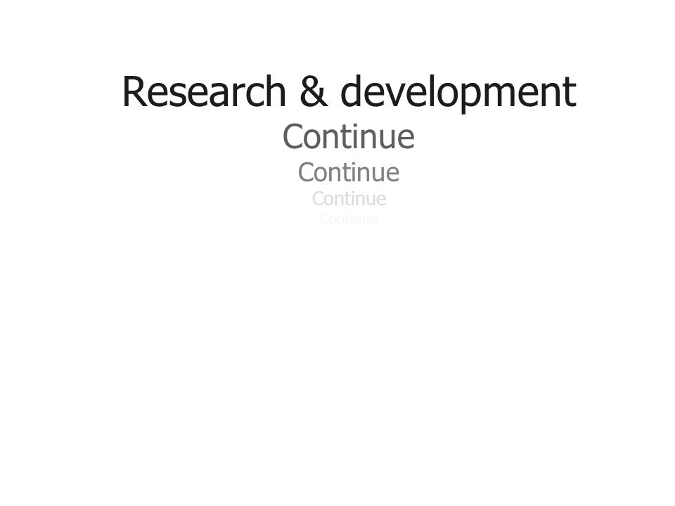 Research & development Continue..