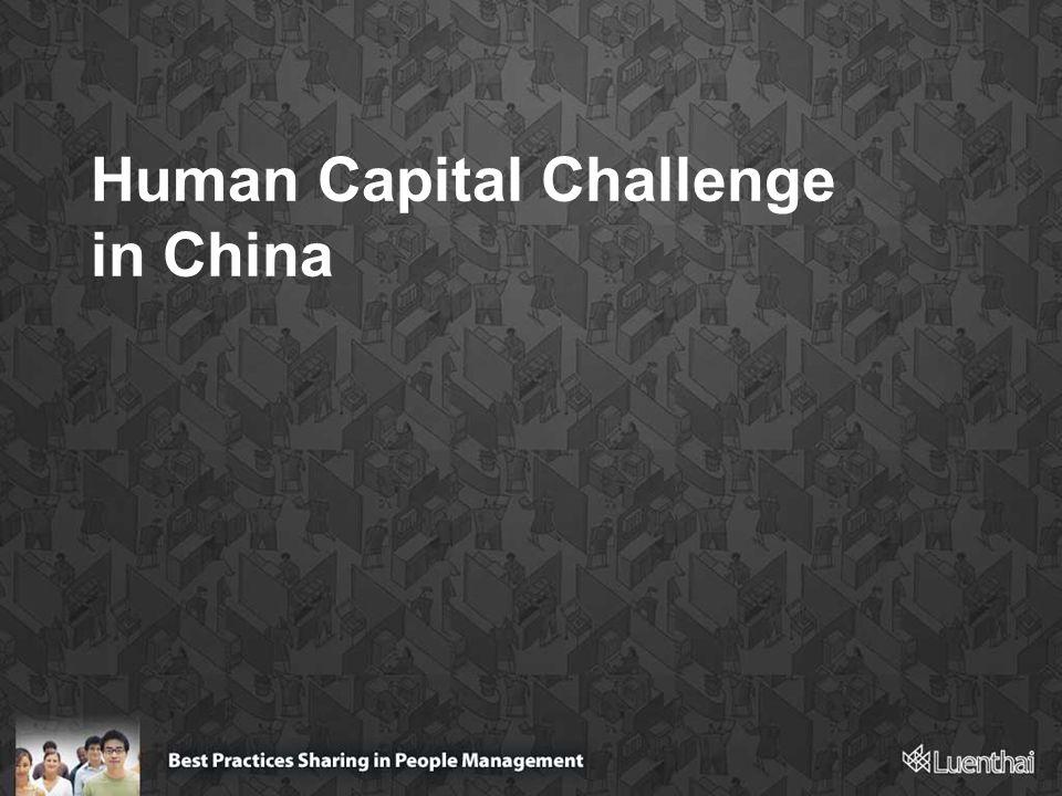 Human Capital Challenge in China