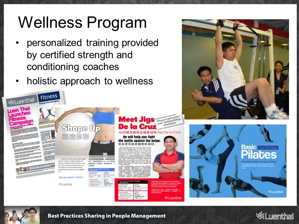 Wellness Program personalized training provided by certified strength and conditioning coaches holistic approach to wellness