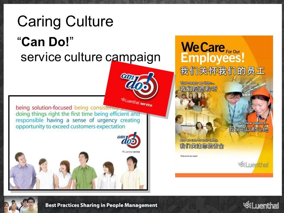 "Caring Culture ""Can Do!"" service culture campaign"