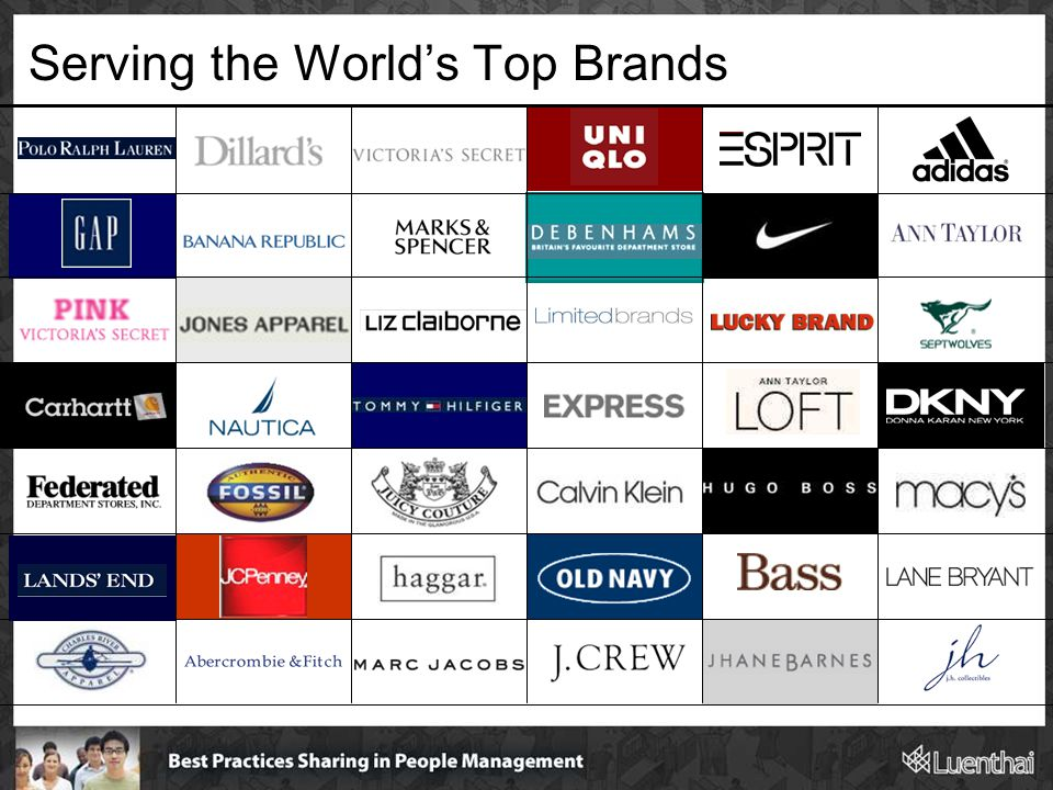 Serving the World's Top Brands