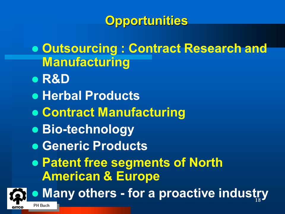 PH Buch 18 Outsourcing : Contract Research and Manufacturing R&D Herbal Products Contract Manufacturing Bio-technology Generic Products Patent free se
