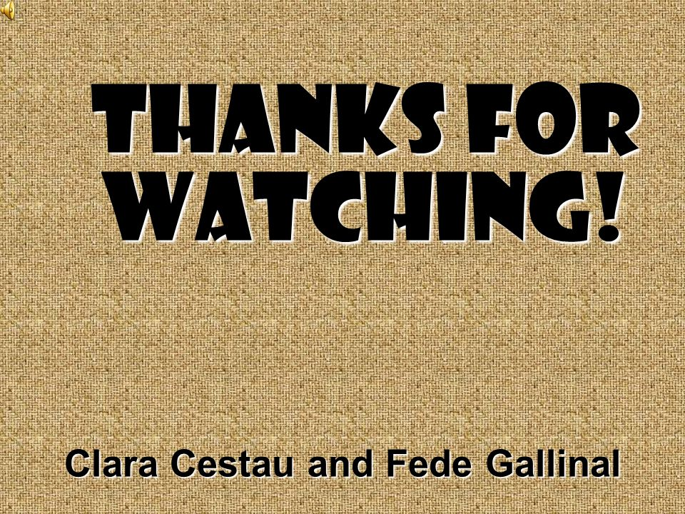Clara Cestau and Fede Gallinal Thanks for watching!