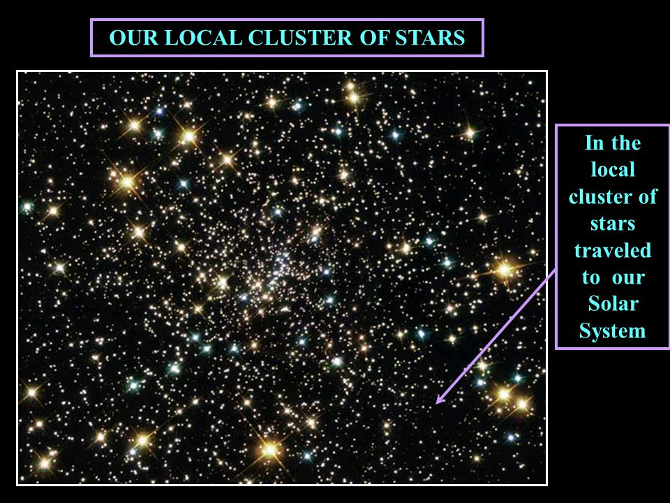 In the local cluster of stars traveled to our Solar System OUR LOCAL CLUSTER OF STARS
