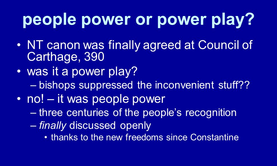people power or power play.