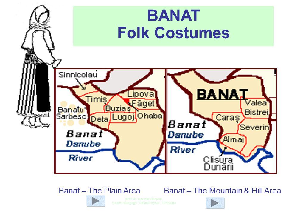 "prof. dr. Daniela Văleanu, Liceul Pedagogic ""Carmen Sylva"", Timişoara Map of the Banat Region The Romanian Banat is mountainous in the south and south"