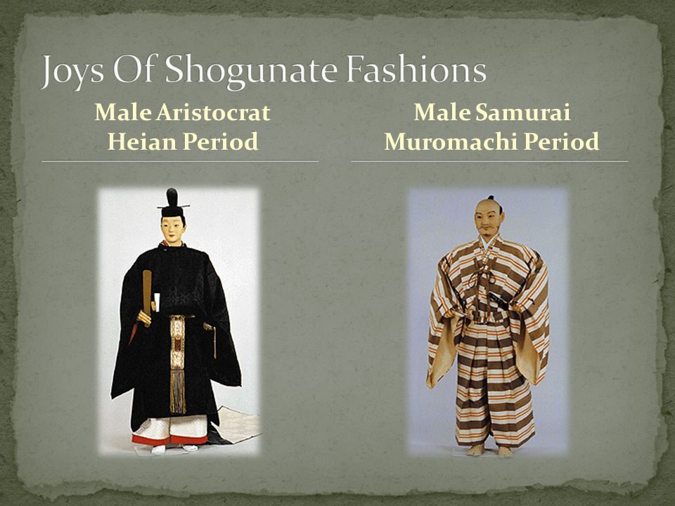 Male Aristocrat Heian Period Male Samurai Muromachi Period
