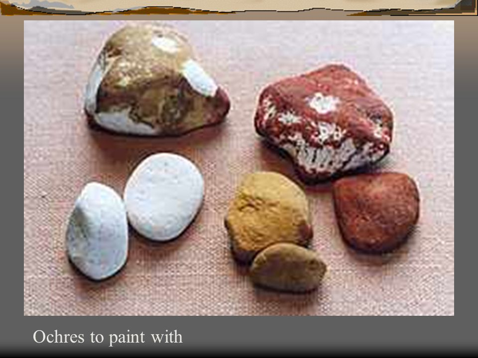 Ochres to paint with