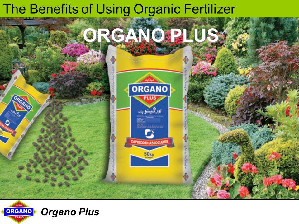 The Benefits of Using Organic Fertilizer Organo Plus ORGANO PLUS
