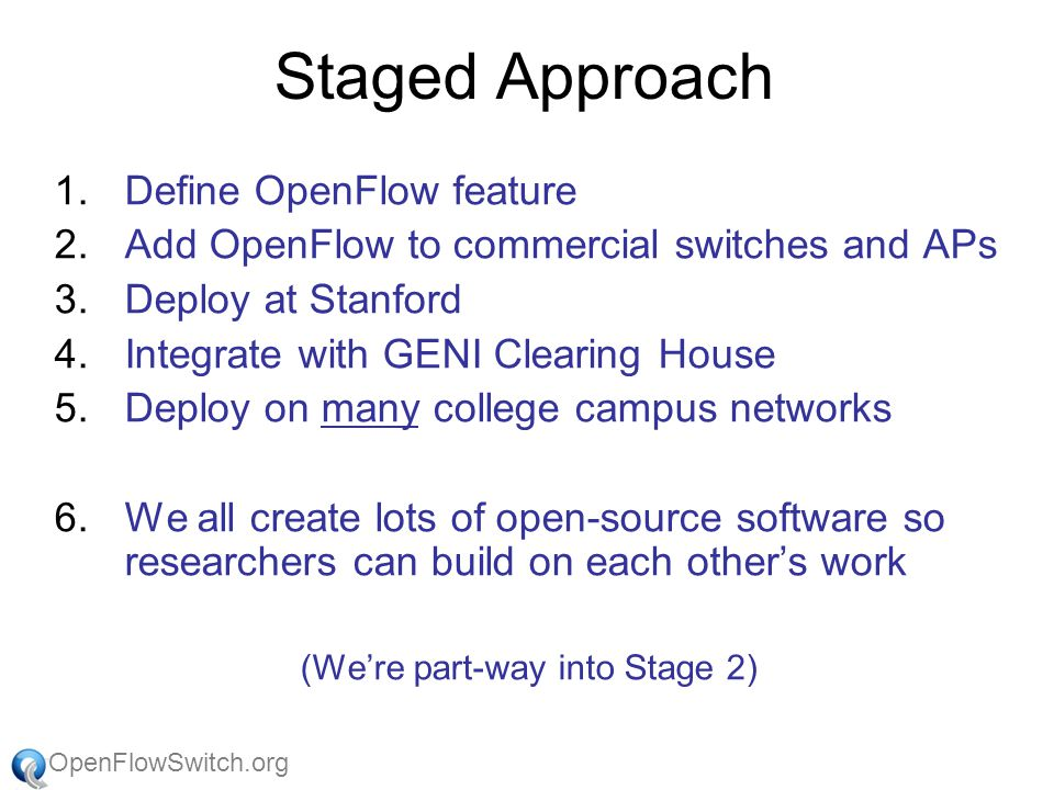 OpenFlowSwitch.org Thanks… (It takes a village)