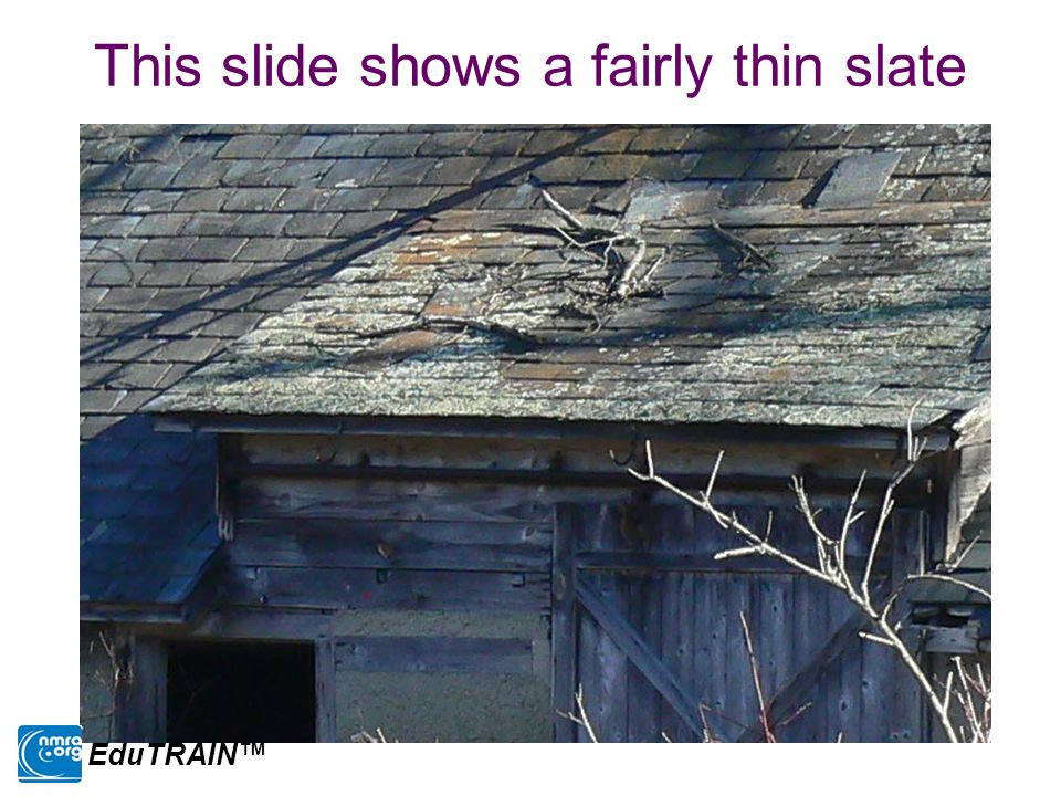 This slide shows a fairly thin slate EduTRAIN™