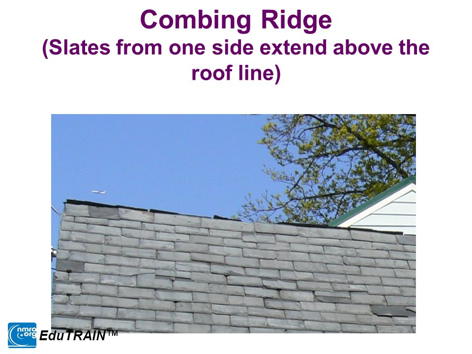 Combing Ridge (Slates from one side extend above the roof line) EduTRAIN™