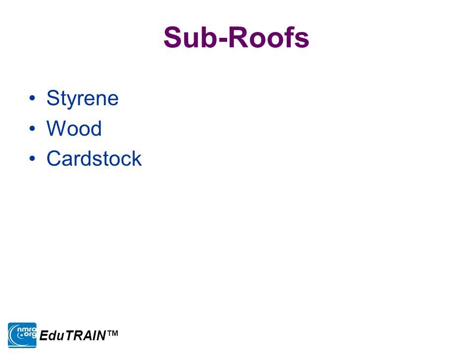 Sub-Roofs Styrene Wood Cardstock EduTRAIN™