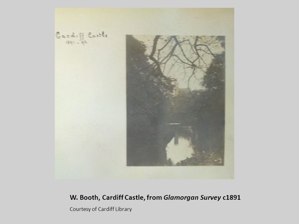 W. Booth, Cardiff Castle, from Glamorgan Survey c1891 Courtesy of Cardiff Library
