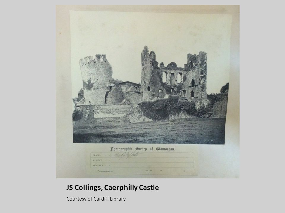 JS Collings, Caerphilly Castle Courtesy of Cardiff Library