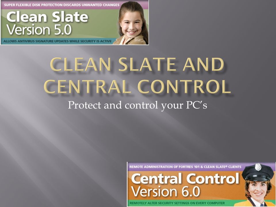 Protect and control your PC's
