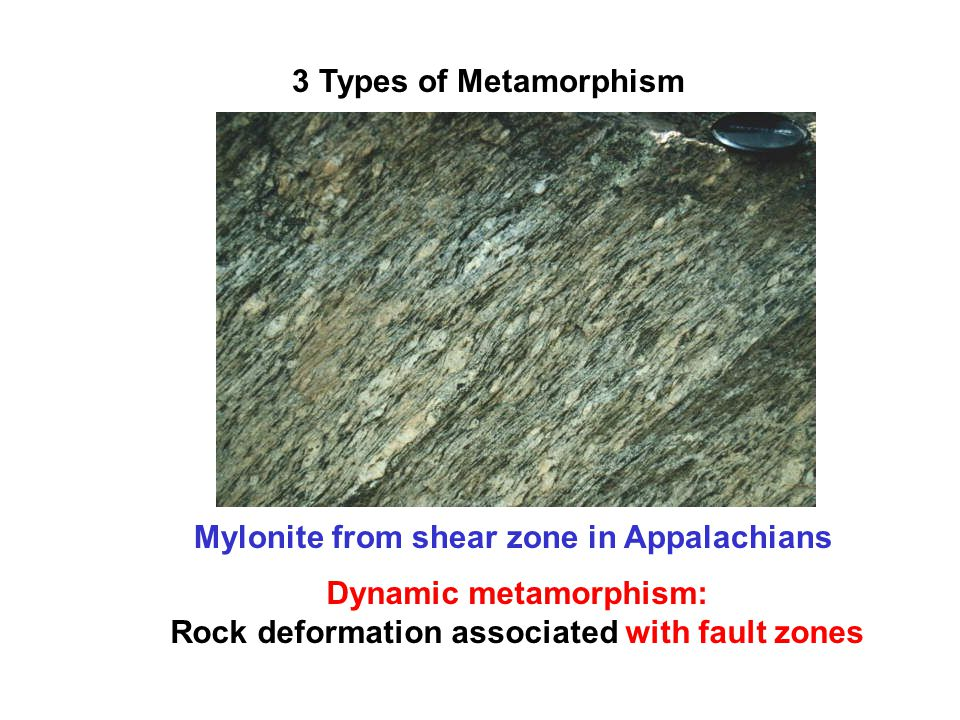Which rock can be found with contact metamorphic rock?