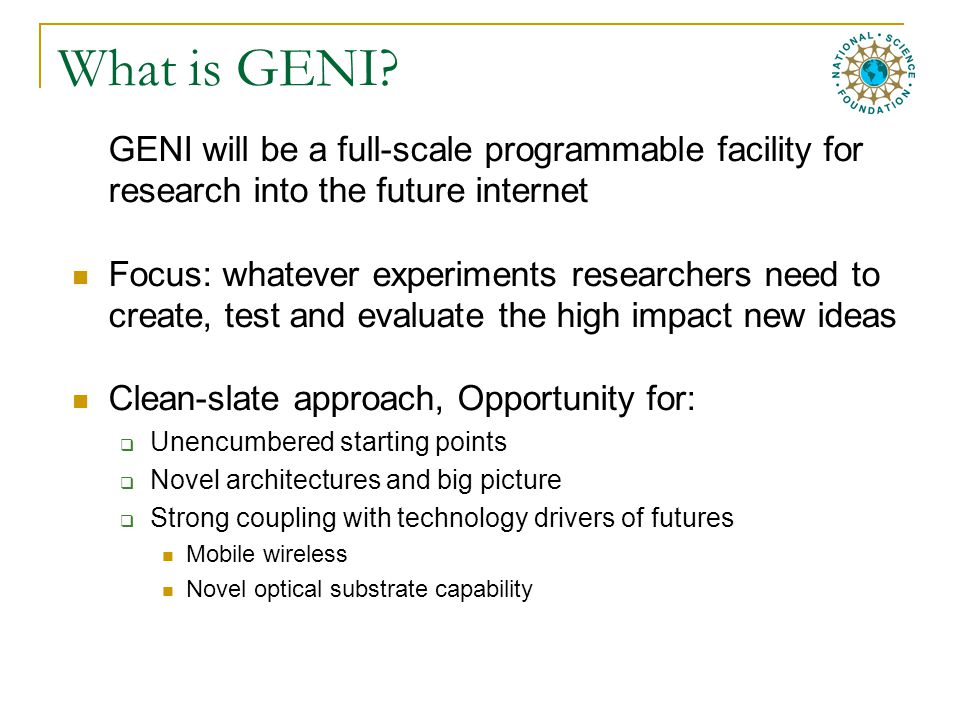What is GENI.