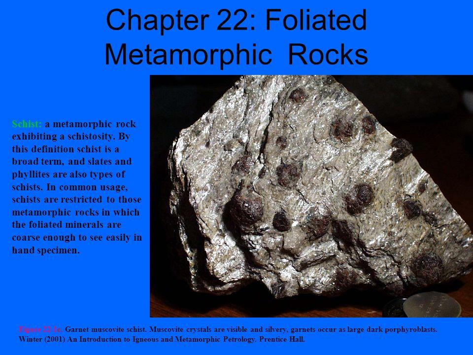 Figure 22-1. Examples of foliated metamorphic rocks.