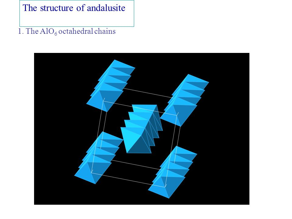 The structure of kyanite 1. The AlO 6 octahedral chains2.