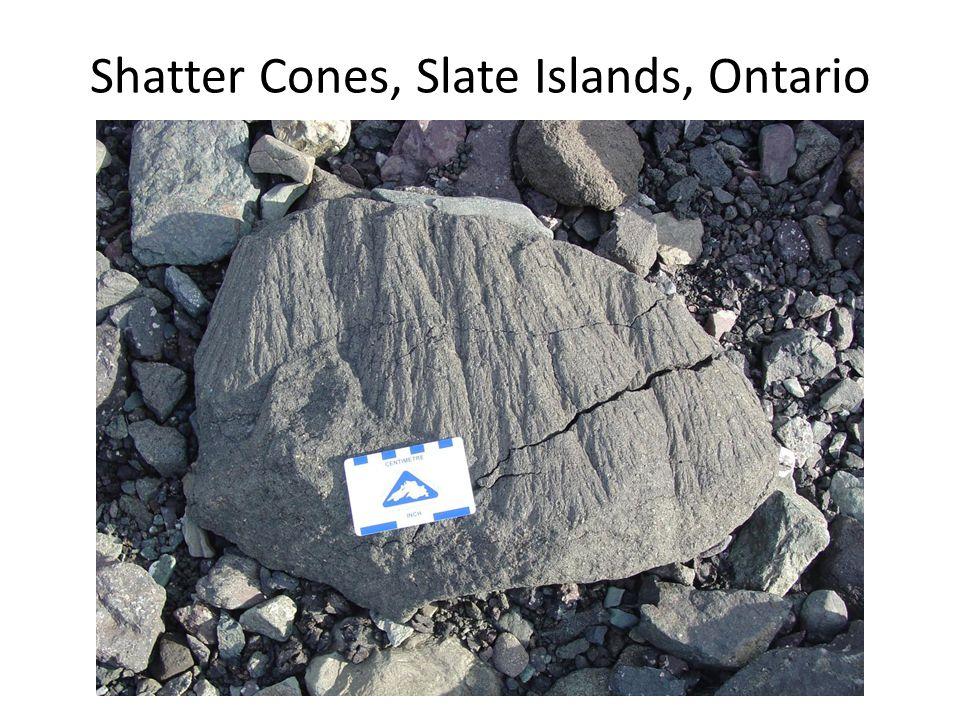 Shatter Cones, Slate Islands, Ontario