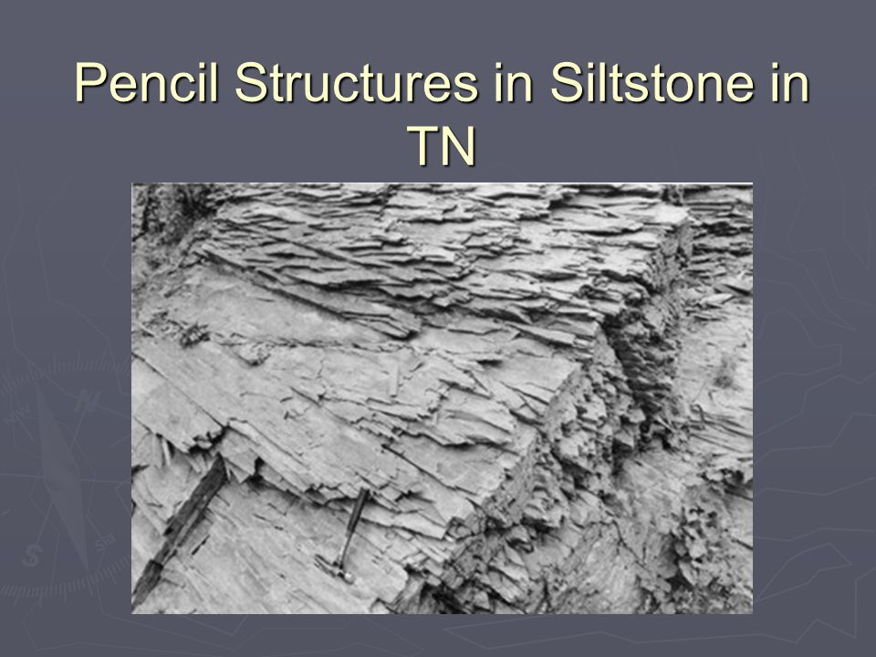 Pencil Structures in Siltstone in TN