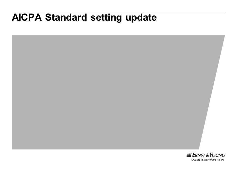 AICPA Standard setting update