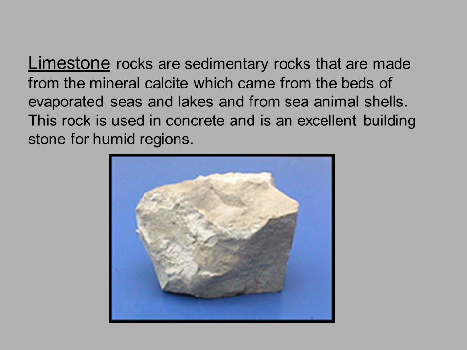 Shale rock is a type of sedimentary rock formed from clay that is compacted together by pressure. They are used to make bricks and other material that