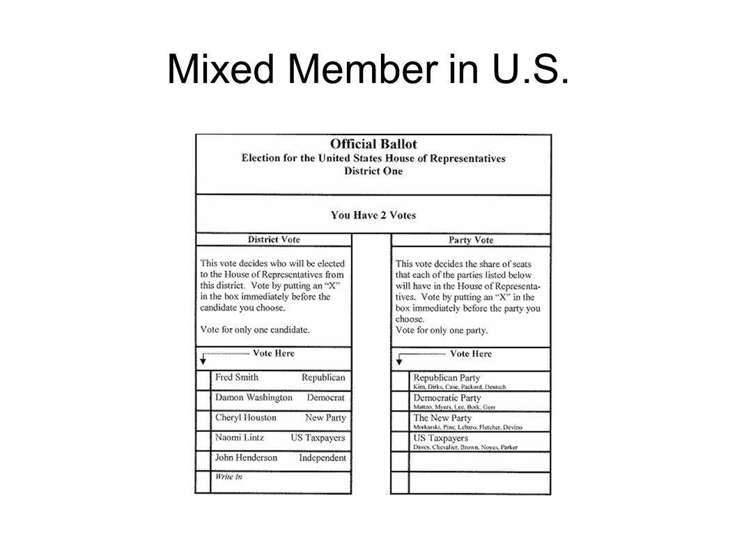 Mixed Member in U.S.