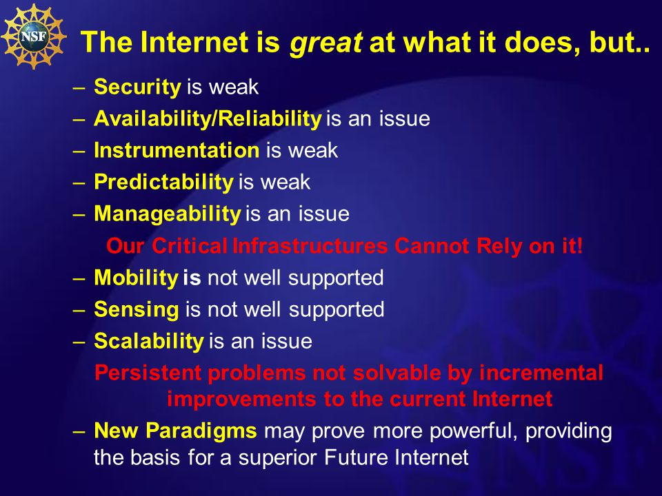 Future Internet.New Paradigms. Protocol and Network Architectures.