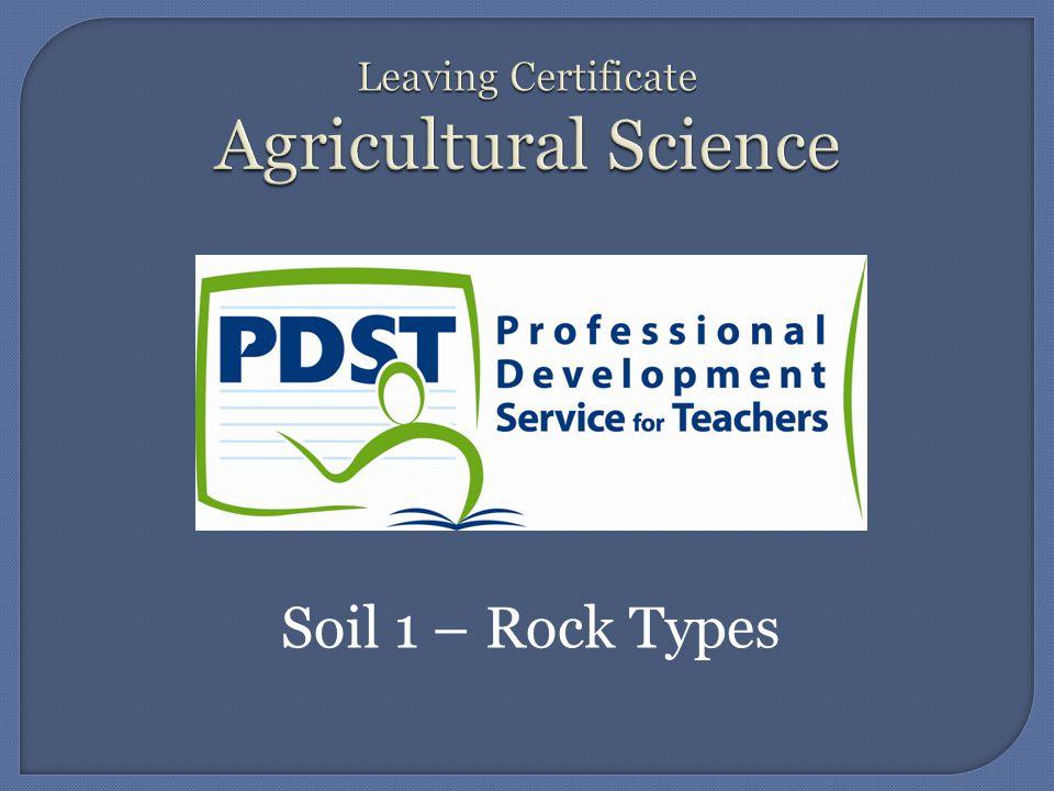 Soil 1 – Rock Types