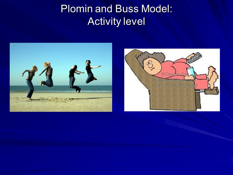 Plomin and Buss Model: Activity level