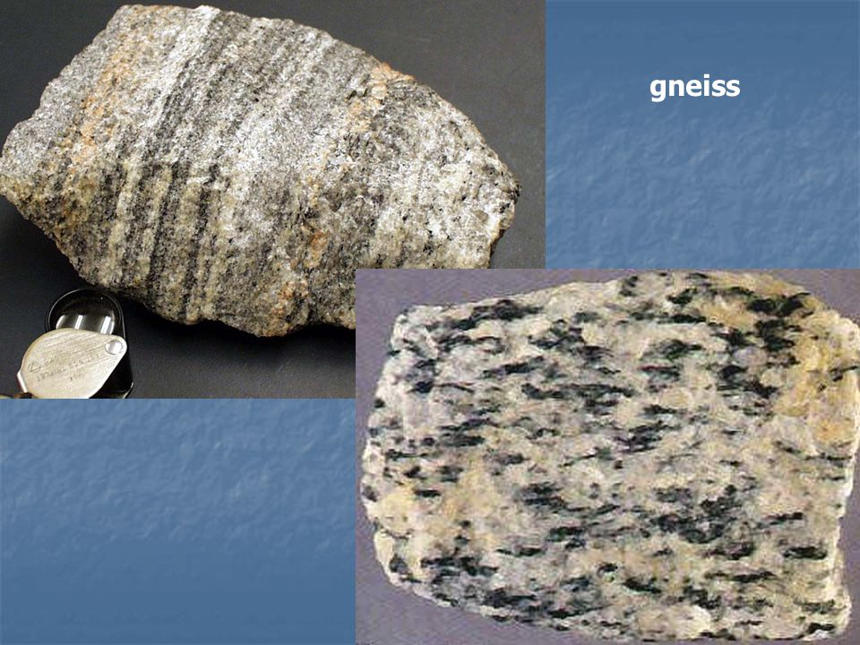 3- Metamorphic mineralogy (mineral content) Most distinguished (index) minerals are used as prefix to the textural name.