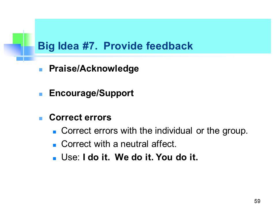 Big Idea #7.