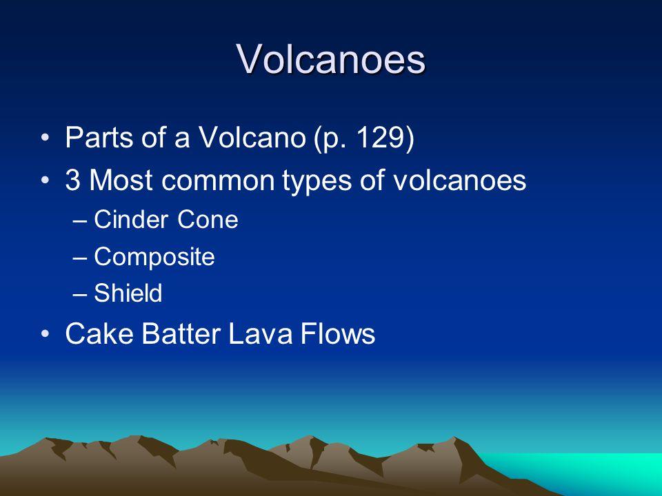 Volcanoes Parts of a Volcano (p.