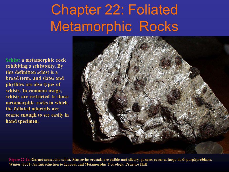 Figure 22-1c. Garnet muscovite schist.