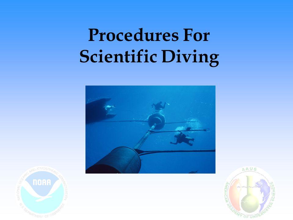 Procedures For Scientific Diving
