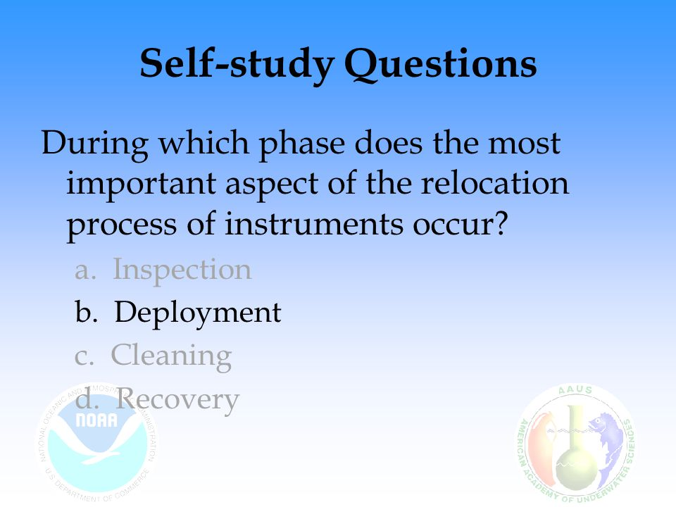 Self-study Questions During which phase does the most important aspect of the relocation process of instruments occur.