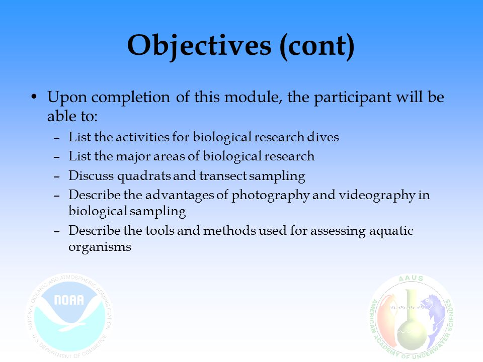Self-study Questions Where is most scientific diving carried out.