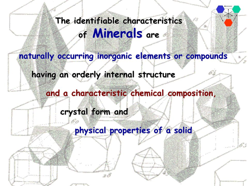 . Minerals make up rocks. Natural compounds and elements combine to form minerals. Elements combine to form the natural compounds. Rocks make up the E