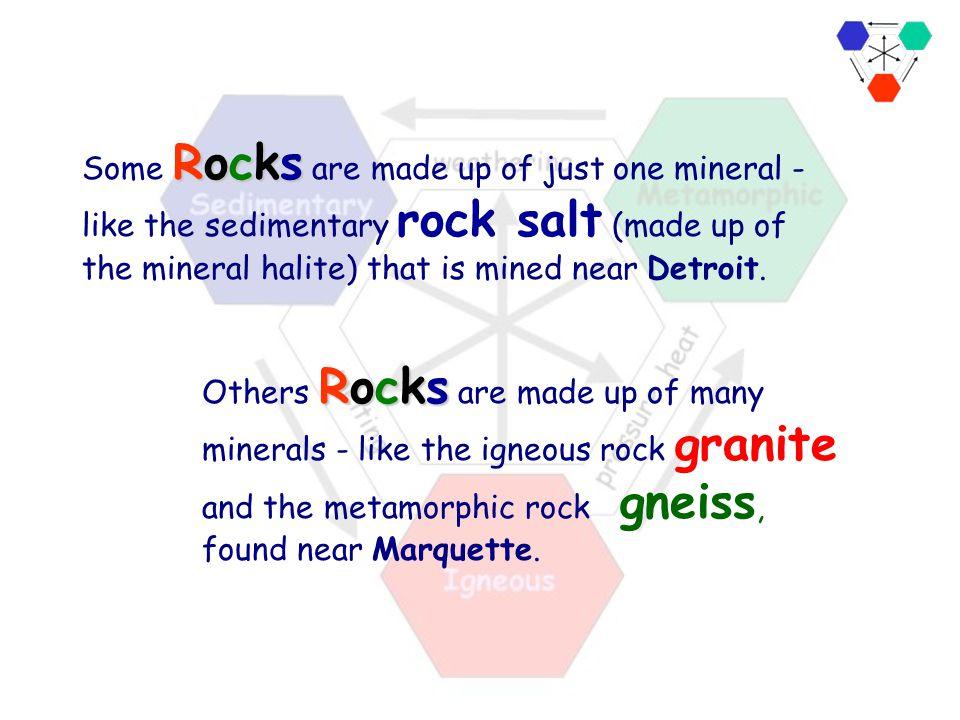Minerals combine to form Rocks