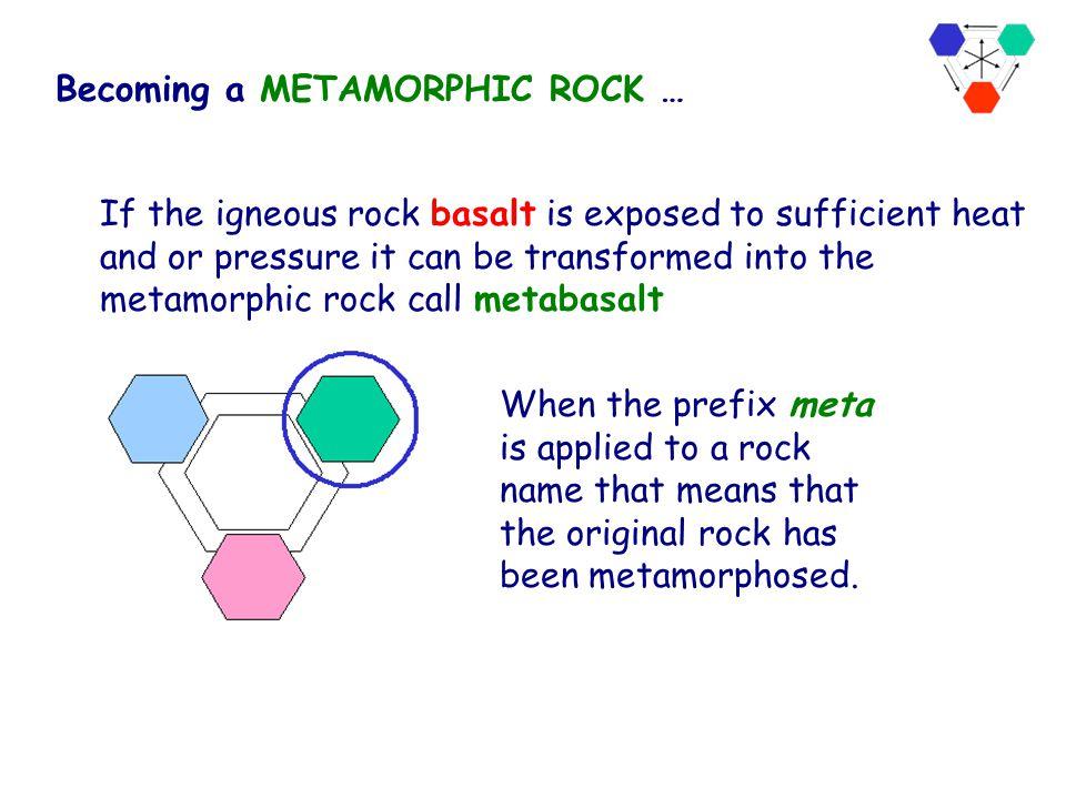 pressure, heat Sedimentary Metamorphic Igneous Rock Cycle The Rock Cycle Pressure, heat and fluids metamorphic rocks Pressure, heat and fluids cause p