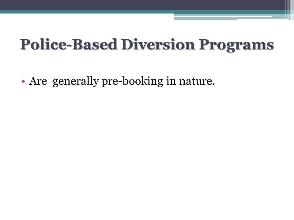 Types of Police Responses to PWMI Mental Health-Based Specialized Mental Health Response Police-Based Specialized Mental Health Response Police-Based Specialized Police Response (CIT)