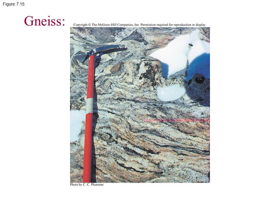 Figure 7.15 Gneiss: