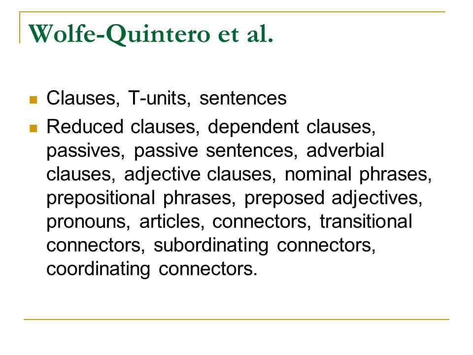 Wolfe-Quintero et al.