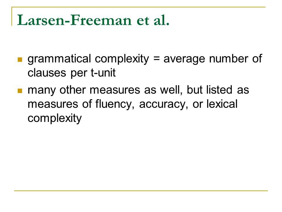 Larsen-Freeman et al.