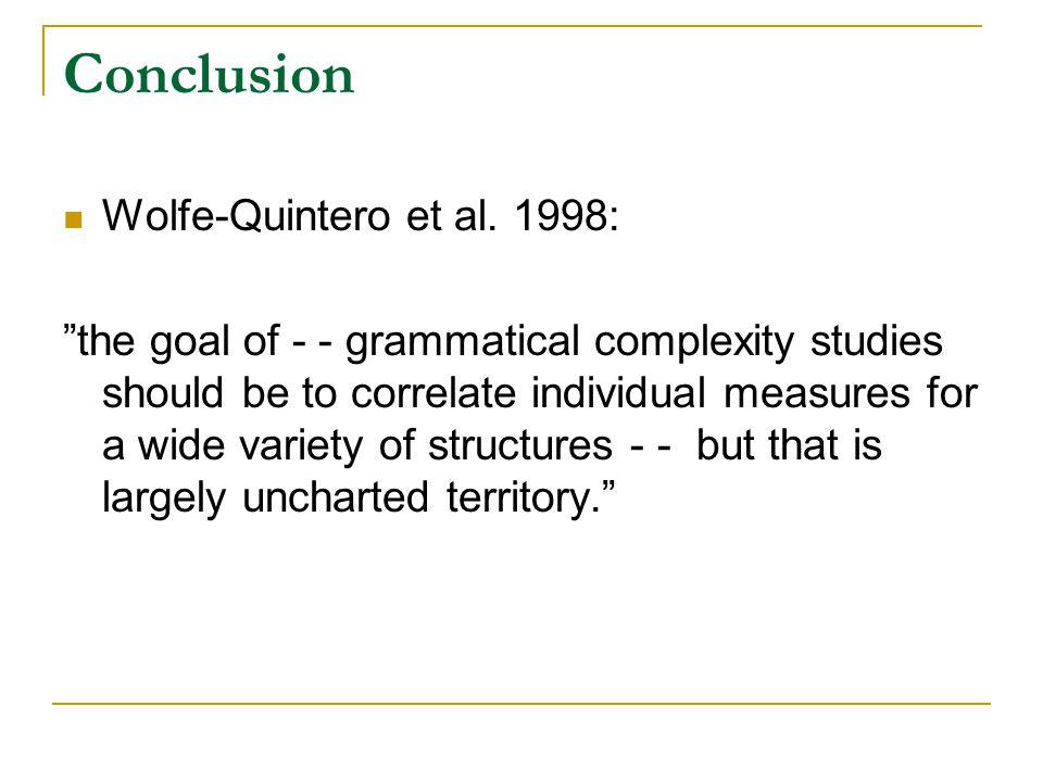 Conclusion Wolfe-Quintero et al.